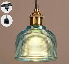 glass pendants lighting. STGLIGHTING H-type 3 Wire Track Light Pendants Length 4.9 Feet Restaurant Chandelier Decorative Glass Lighting