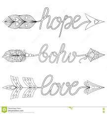 Bohemian Arrows Signs Bohoove Hope With Feathers Decorative Coloring