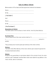 Vehicle Payment Agreement Template Sold As Is Contract Sample ...