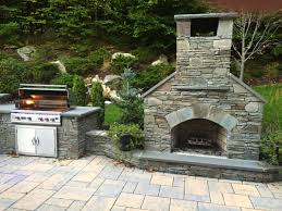 outdoor fireplace kit outdoor kitchen stainless steel grill
