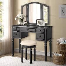 Bedroom Dressers : Merax Ella Vanity Set Stool Makeup Dressing Table ...