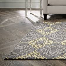spaces by welspun nylon printed area rug damask grey yellow com