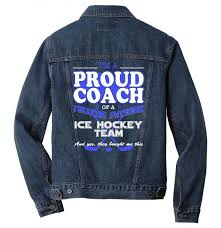 proud ice hockey coach shirt gift for ice hockey coach men denim jacket