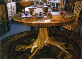 garage captivating stump dining table 5 tree coffee tables round log trunk glass top with base