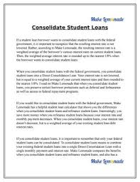 Consolidate Student Loans By Tom Jackson Issuu