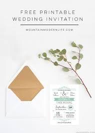 Printable Wedding Invitation Free Wedding Invitation Template Mountainmodernlife Com