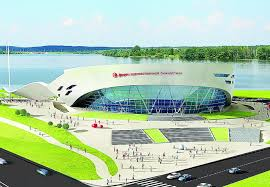 Еще один дворец В Минске начали активно строить центр  Площадка под строительство дворца была выделена еще в 2008 году По первоначальному проекту фасад здания напоминал вьющуюся гимнастическую ленту