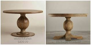 restoration hardware urn pedestal table