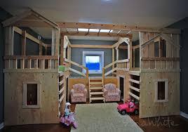 Ana White | DIY Basement Indoor Playground with Monkey Bars - DIY ...