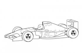 Small Picture Footwork FA15 F1 Classic Race Car Coloring Page Free Online Cars