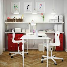 home office furniture design. create one home office for two using the white hissmon table top with stylish nipen legs furniture design