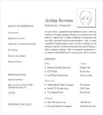 actor resume no experience acting resume with no experience actor child mmventures co