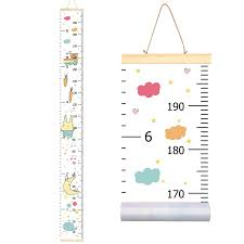 Us 15 45 Rainbow Unicorn Childrens Hanging Kids Growth Chart Wall Sticker Rule Growth Table Height Measurement Ruler For Kids Boys Girls In
