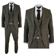 36 Suit Size Chart Details About Mens Tweed Brown 3 Pieces Vintage Suits Groom Formal Suit Size 36 38 40 42 44r
