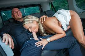 Pretty Czech blondie bangs in the backseat of the car PornDoe