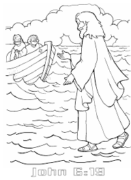 To Download Jesus Walks On Water Coloring Page 19 On For Kids with ...