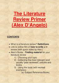 Lit Review Definition Of Review Of Literature Academic Writing Services From