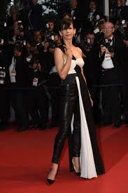 Sophie Marceau attends Cannes Film Festival Leather Outfit.