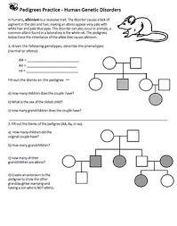 Pedigree Chart Practice Pedigrees Human Genetic Disorders Genetics Teaching