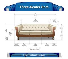 sofa dimensions for 2 3 4 and 5