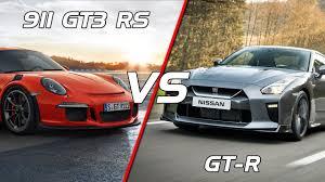 2017 Porsche 911 GT3 RS vs Nissan GT-R - YouTube