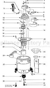 parts for domestic ql60a shop vac vacuum cleaners image image