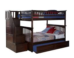 full bunk beds with stairs. Beautiful Full Amazoncom Atlantic Furniture Columbia Staircase Bunk Bed With Trundle Bed  Full Over Full Antique Walnut Kitchen U0026 Dining Inside Beds With Stairs R