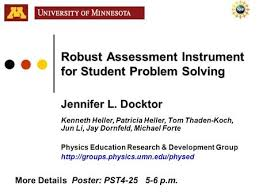 physics problem solving ppt video online robust assessment instrument for student problem solving jennifer l docktor kenneth heller patricia heller