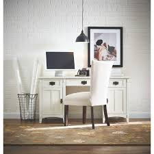 white home office desk. Artisan White Secretary Desk With Storage Home Office