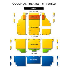 Colonial Theater Seating Chart Colonial Theatre Pittsfield 2019 Seating Chart