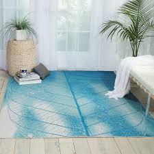 coastal indoor outdoor rugs nourison coastal aqua indoor outdoor area rug 5 3 x 7 5