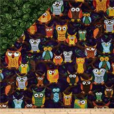 Nite Owls Double Sided Quilted Large Owls Purple - Discount ... & Nite Owls Double Sided Quilted Large Owls Purple - Discount Designer Fabric  - Fabric.com Adamdwight.com