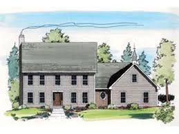 colonial house plans. Classic Colonial Two-Story House Plans A