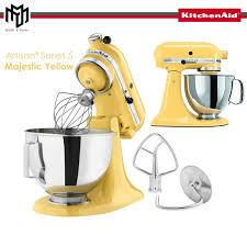 made in usa kitchenaid stand mixer ksm150my majestic yellow