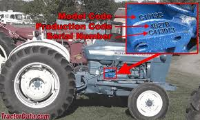 com ford tractor information photo of 3000 serial number