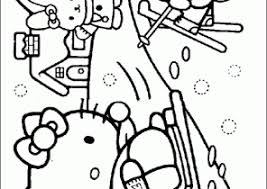 In this coloring page you will find hello kitty as an angel, a sweets seller, a ballerina, and more! Winter Coloring Pages Coloring4free Com