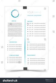 Clean Cv Resume Template Design Vector Stock Vector Royalty Free