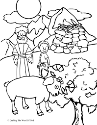 Small Picture Abraham Offers Isaac Coloring Page Crafting The Word Of God