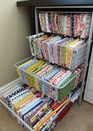 This would be great for yarn storage! A Craft Month Organization solution-- Fabric Organization, small fabric storage