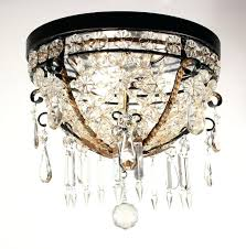 sold amazing antique flush mount beaded basket chandelier with crystal prisms light fixture