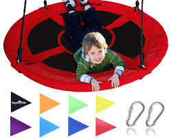 Giant Saucer Swing in Elite Red with Bonus Carabiners and Flags - Royal Oak  Store