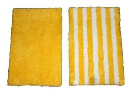 yellow bath rug