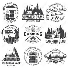 Summer Camp Vector Concept For Shirt Or Patch Print Stamp
