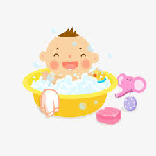 smiling baby bath picture material baby clipart smile lovely png image and clipart