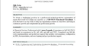 Sap Consultant Sample Resume Custom Sap End User Resume Sap Sap End User Resume Format Equios