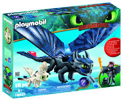 How To Train Your Dragon 3 Playmobil Light Fury Playmobil Dreamworks Dragons Hiccup And Toothless With Baby