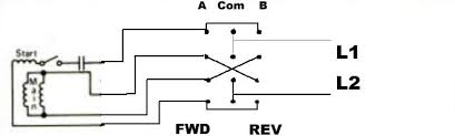 reversing single phase motor wiring diagram and forward reverse how to wire a motor reverse switch single phase at Reversing Single Phase Motor Wiring Diagram