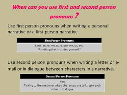 types of writing in th grade english informational essay  when can you use first and second person pronouns