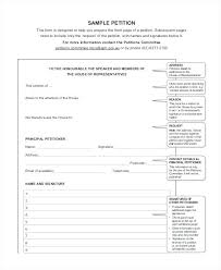 Blank Petition Form Template