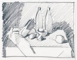 thumbnail sketch of still life position on white paper artists magazine